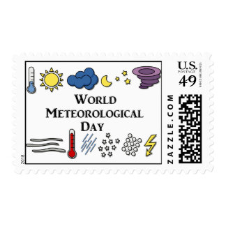 3-23 World Meteorological Day Postage