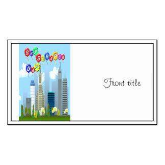 3-27 día del rascacielos tarjetas de visita