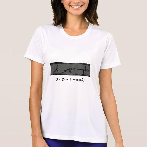 3 - 2 - 1 YOGA - ropa del entrenamiento de la yoga Camiseta