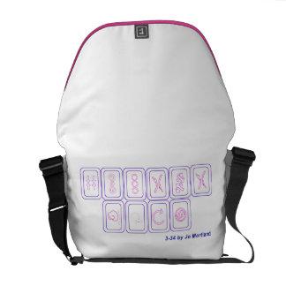 3-34 la bolsa de mensajero, púrpura y magenta bolsa de mensajería