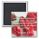 3:3 de los proverbios iman de nevera