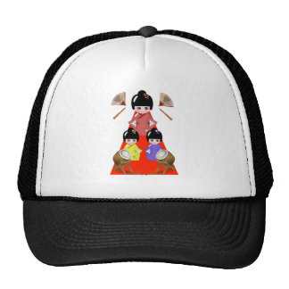 3-3 Hinamatsuri festival japonés de la muñeca del Gorro De Camionero