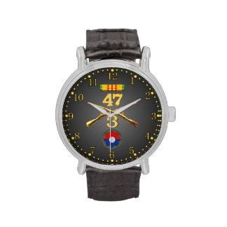 3/47o Inf. Cinta de los rifles y reloj cruzados de