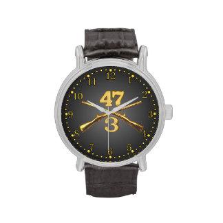 3/47o Inf. Reloj cruzado latón de los rifles