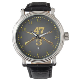 3/47th Inf. Brass Crossed Rifles Watch