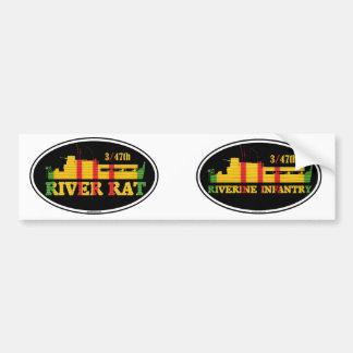 3/47th Riverine Infantry Tango Boat Euro-Oval Pair Bumper Sticker