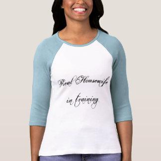 3/4 ama de casa jersey-Real de la manga en el Camiseta