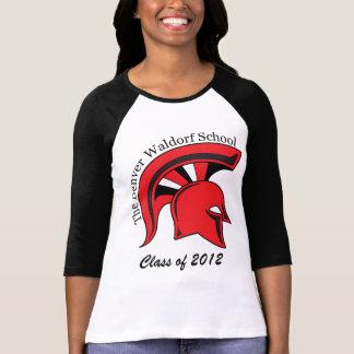 3/4 camisa con mangas para mujer del raglán