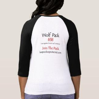 3/4 camiseta de la manada de lobos de la longitud