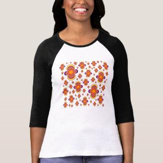 3/4 camiseta del raglán de la manga de las mujeres camisas