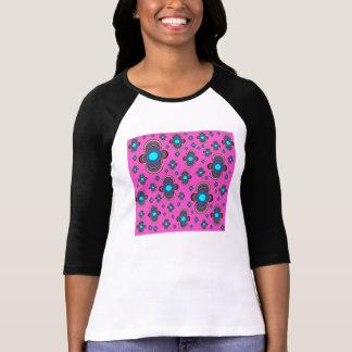 3/4 camiseta del raglán de la manga de las mujeres playeras