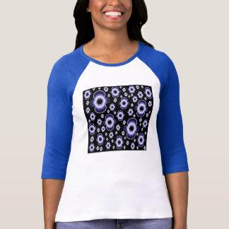 3/4 camiseta del raglán de la manga de las mujeres remera