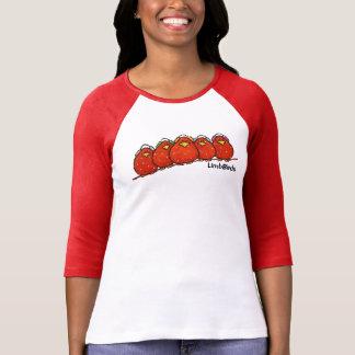 3/4 camiseta para mujer del raglán de la manga