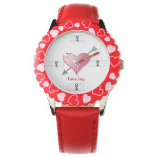 3/4 firma de tiempo que los amantes batieron relojes de pulsera