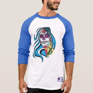 3/4 jersey azul del Poppa doc. Camisetas