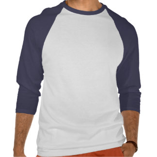 3 4 raglán básico blanco real de la manga camiseta