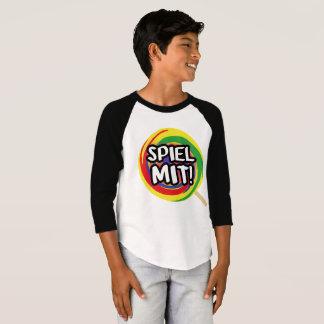 3/4 shirt play me me logo boy