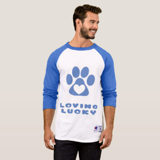 3/4 sleeve Raglan Baseball T-shirt - Loving Lucky