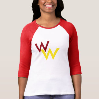 3/4 Sleeve White/Maroon, Wichita West T-Shirt