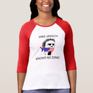 3/4 Slv Ladies Raglan Free Speech Shirt