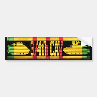 3/4th Cav Track & Tank Car Bumper Sticker
