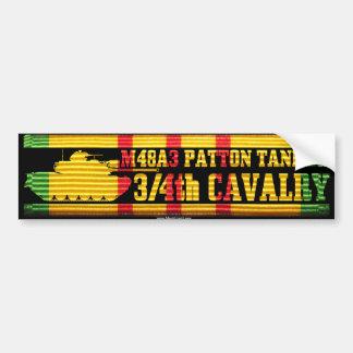 3/4th Cavalry M48A3 Tanker Car Bumper Sticker