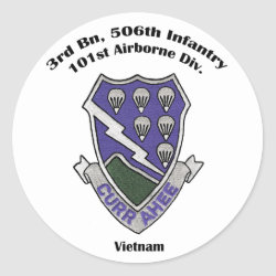 3-506th Stickers - Vietnam