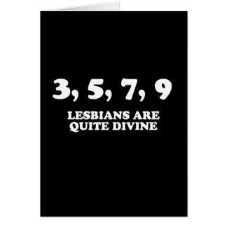 3,5,7,9 lesbianas son muy divinas (la línea de la  felicitación
