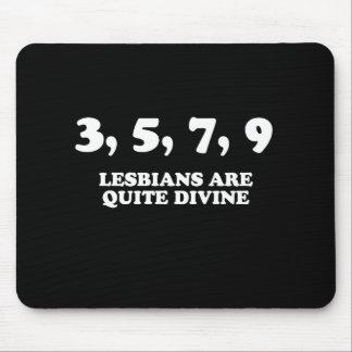 3 5 7 9 Lesbians are quite divine Pickup Line Mousepad