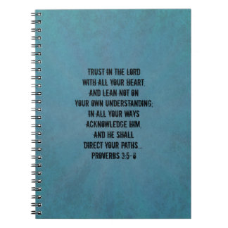 3:5 cristiano de los proverbios del verso de la bi cuaderno