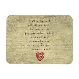 3:5 cristiano de los proverbios del verso de la iman rectangular