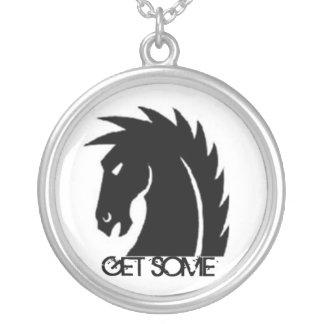 3/5 Darkhorse GET SOME Round Pendant Necklace