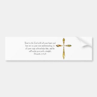 3:5 de los proverbios - 6 etiqueta de parachoque
