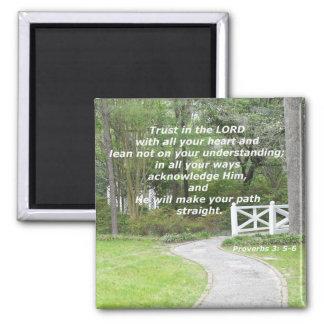 3:5 de los proverbios - 6 imán cuadrado