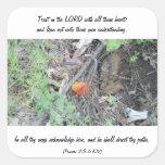 3:5 de los proverbios - 6 calcomanías cuadradas personalizadas