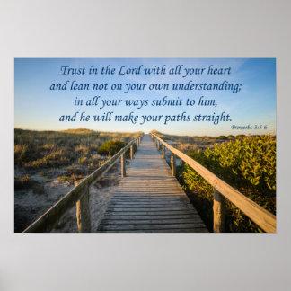 3:5 de los proverbios - 6 póster