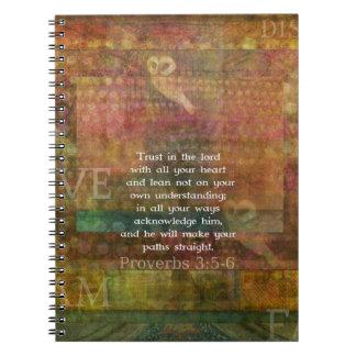 3:5 de los proverbios - cita de 6 biblias sobre co libreta