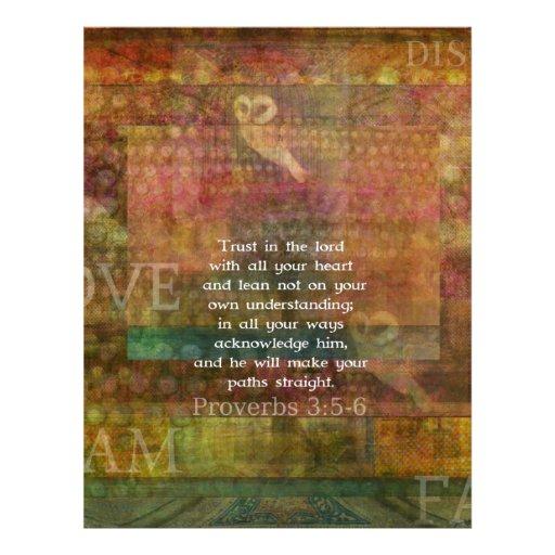 3:5 de los proverbios - cita de 6 biblias sobre co membretes personalizados