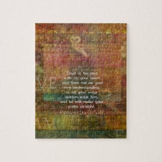 3:5 de los proverbios - cita de 6 biblias sobre co rompecabezas con fotos