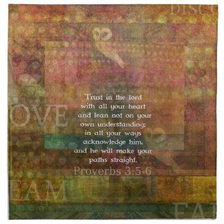 3 5 de los proverbios - cita de 6 biblias sobre co servilleta imprimida