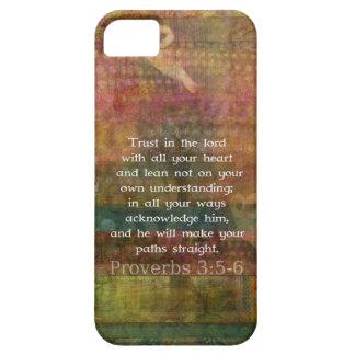 3:5 de los proverbios - cita de 6 biblias sobre iPhone 5 protector