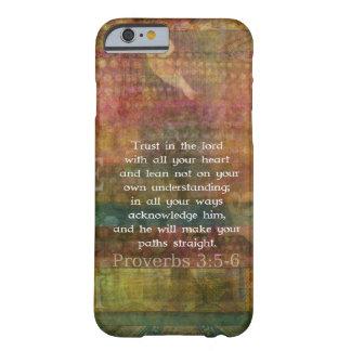 3:5 de los proverbios - cita de 6 biblias sobre funda para iPhone 6 barely there
