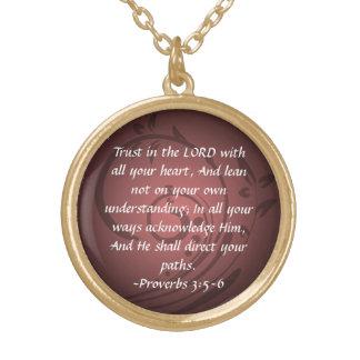 3:5 de los proverbios - colgante del verso de la