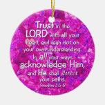 3:5 de los proverbios - confianza 6 en el señor Bi Ornamente De Reyes