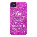 3:5 de los proverbios - confianza 6 en el señor Bi iPhone 4 Protectores