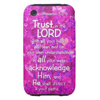 3:5 de los proverbios - confianza 6 en el señor tough iPhone 3 cárcasa