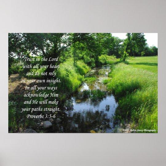 3:5 de los proverbios de Gainesville TX - 6 Póster