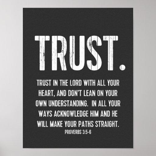 3:5 de los proverbios del verso de la biblia - 6,  posters