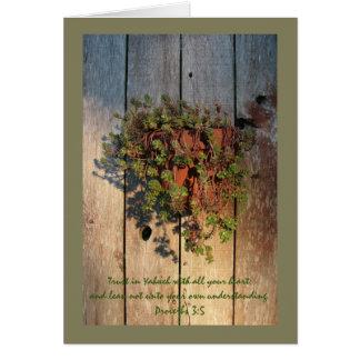 3:5 de los proverbios en Succulents Tarjeta De Felicitación