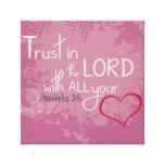 3:5 de los proverbios impresion en lona